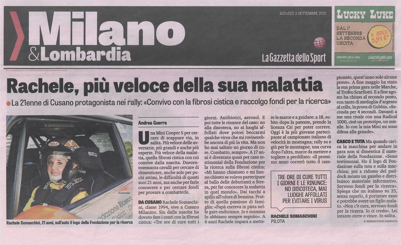 Gazzetta dello Sport · Rachele Somaschini