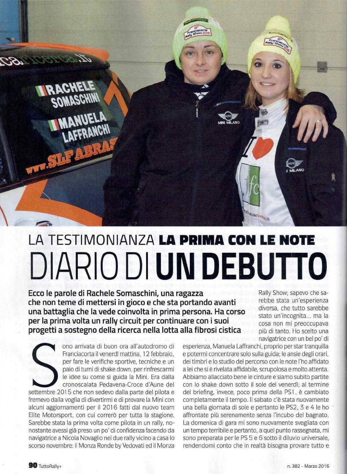 TuttoRally+ Rachele Somaschini con Manuela