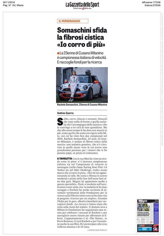 Gazzetta dello Sport Rachele Somaschini