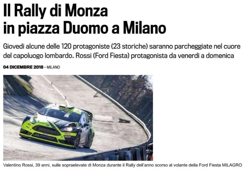 Il Rally di Monza in piazza Duomo a Milano