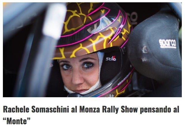 "Rachele Somaschini al Monza Rally Show pensando al ""Monte"""
