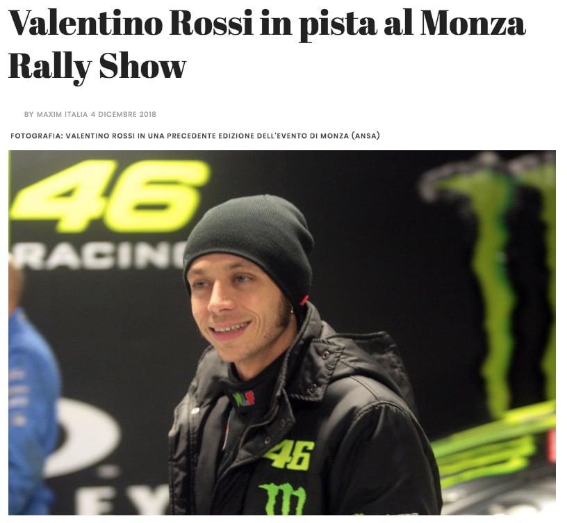 Valentino Rossi in pista al Monza Rally Show