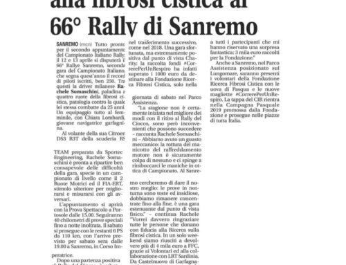 LA RIVIERA • La paladina della lotta alla fibrosi cistica al 66° Rally di Sanremo